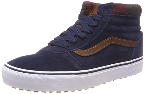 fdad8621b7 Vans Men s Ward Hi-Top Trainers MTE Dress Blues Leather Brown U2x 5.5 UK