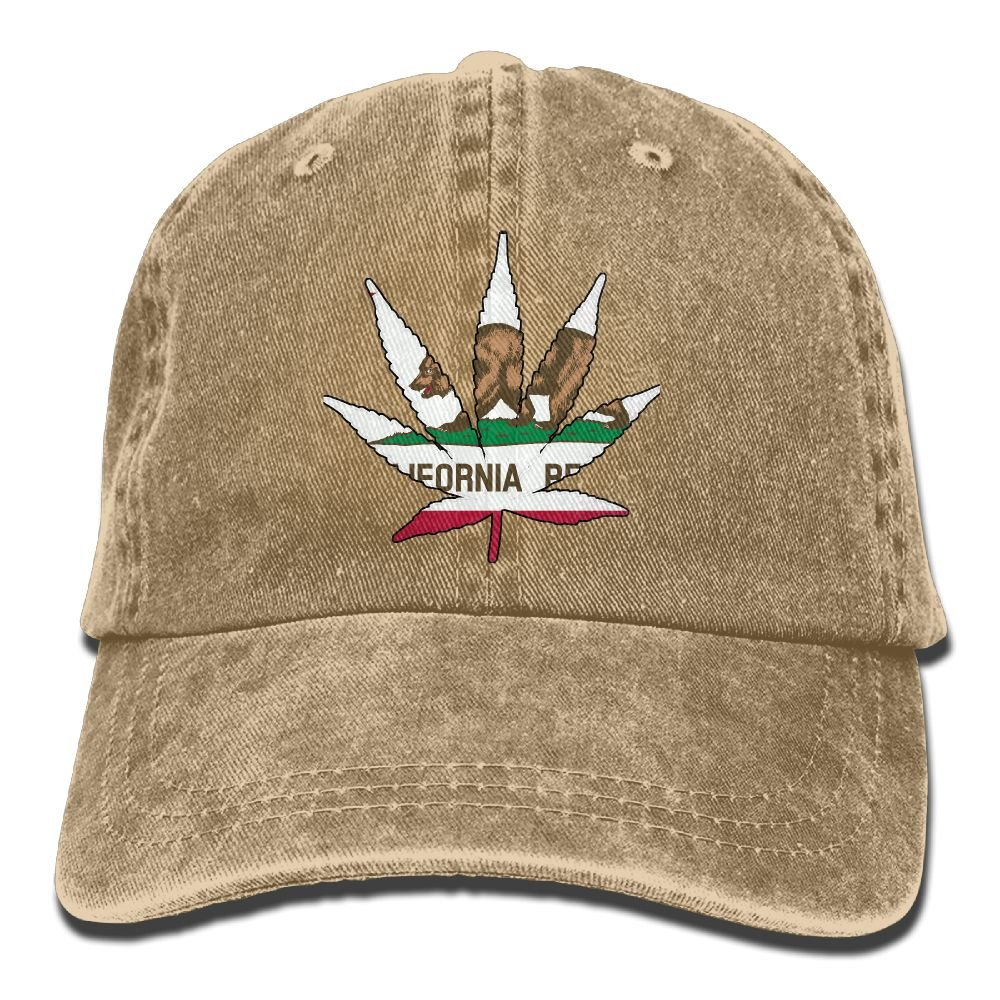 XZFQW Weed California Trend Printing Cowboy Hat Fashion Baseball Cap For Men and Women Black