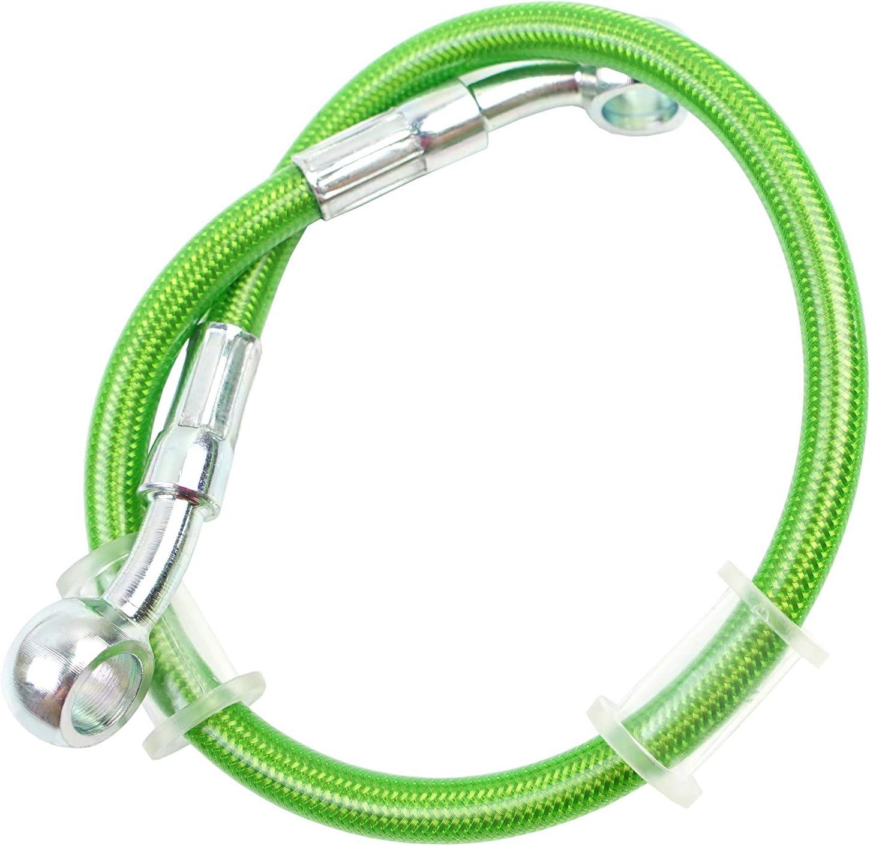 //500mm Green Ligne de tuyau de tube de tuyau de frein hydraulique tress/é 10mm trou 400-2200mm vert