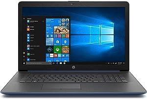 "HP 17.3"" HD+ Notebook Laptop PC, Intel Quad Core i5-8250U Processor, 24GB Memory: 16GB Intel Optane + 8GB RAM, 2TB Hard Drive, Optical Drive, HD Webcam, Backlit Keyboard, Windows 10 (Blue)"