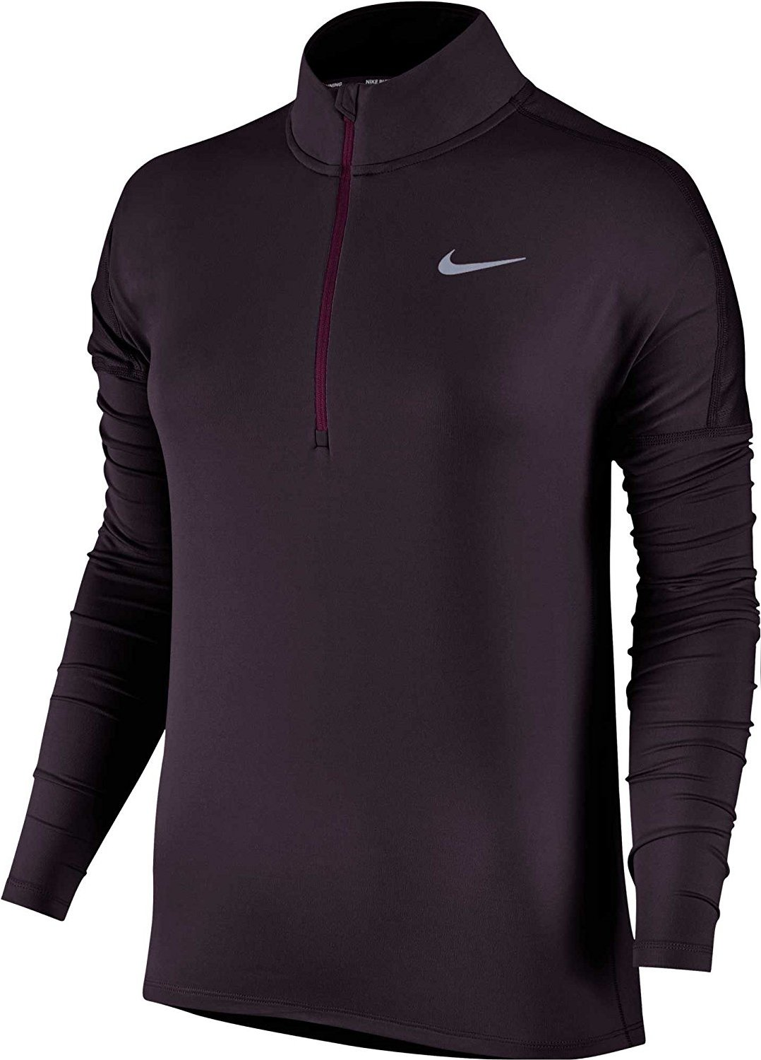 Nike Women's Dry Element Running Top Port Wine Size Small