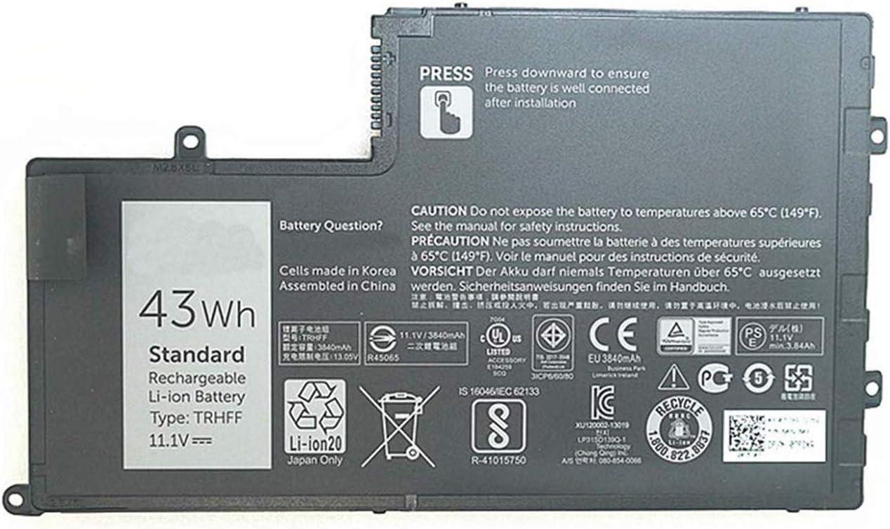 BOWEIRUI Replacement Laptop Battery for Dell TRHFF (11.1V 43Wh 3840mAh) Inspiron 14 5443 5445 5447 5448 15 5000 5543 5545 5547 5548 5557 Latitude E3450 Series R0JM6 VVMKC 1WWHW 1V2F6 01V2F6 0PD1