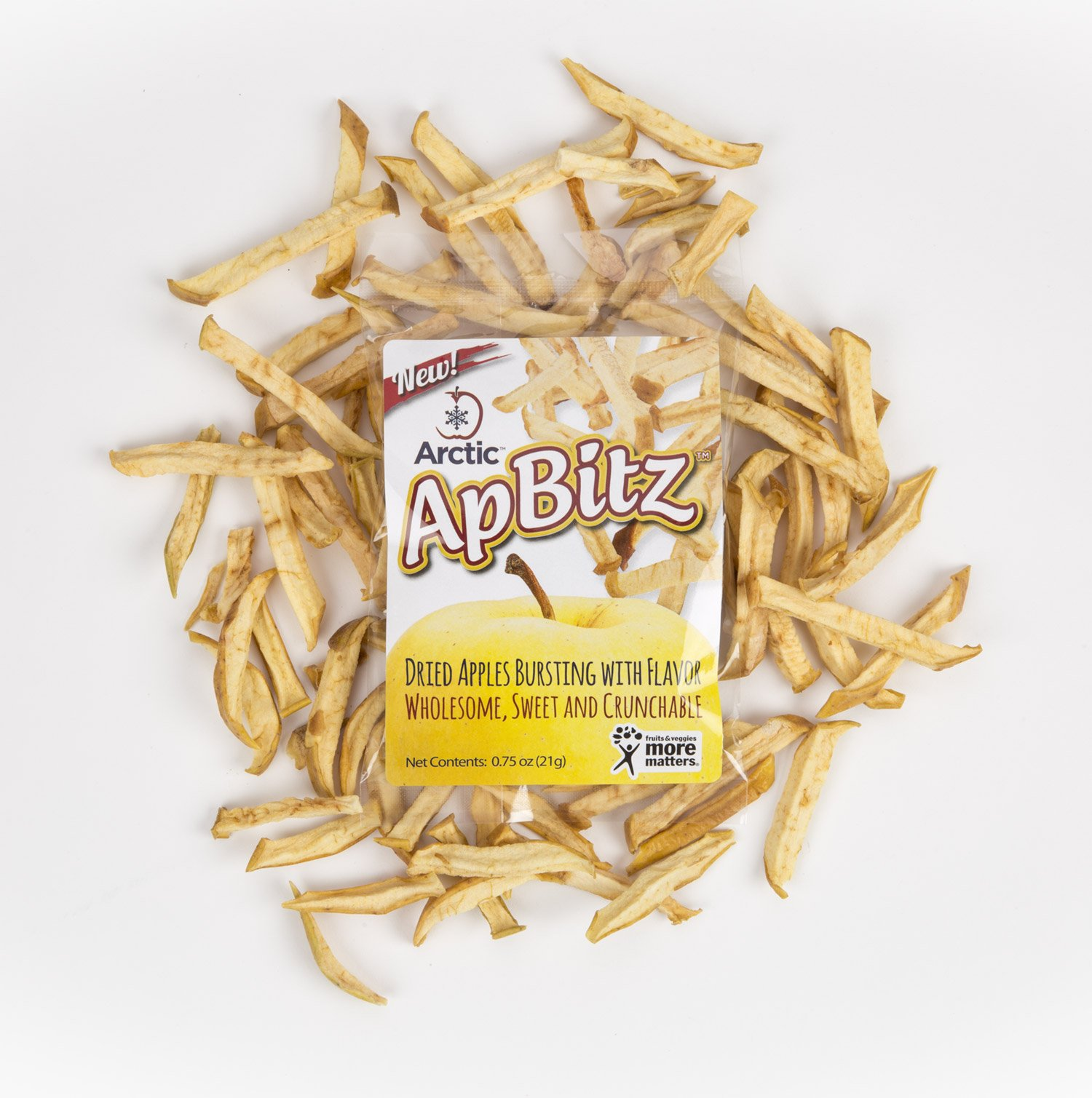 Arctic ApBitz Dried Apple Snacks – 0.75 oz (Pack of 12) – Preservative Free by Arctic® Apples (Image #5)