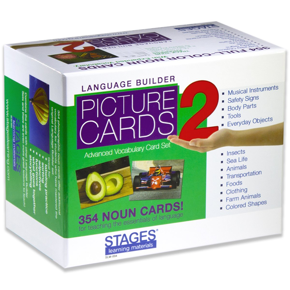 Stages Learning Language Builder Picture Nouns Set 2 for Autism, Aba and Preschool Educational Vocabulary Flash Cards by Stages Learning (Image #2)