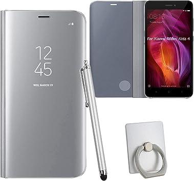 Guran® Mirror Efecto Espejo Funda para Xiaomi Redmi Note 4 Clear ...