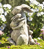 Momma and Baby Bunnies Garden Statue, 14.50 H