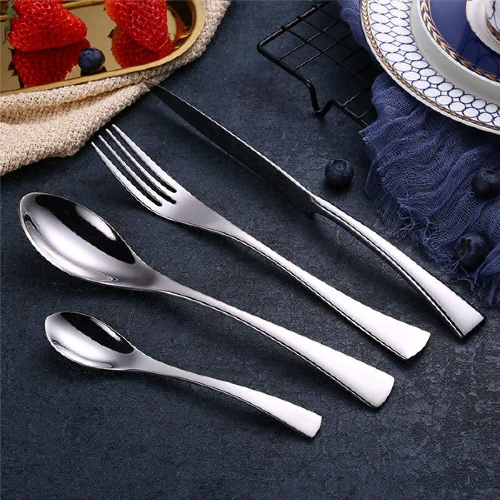 LIANGLIXIN フォークスプーンカトラリーセットステンレス鋼食器類食器銀器セットディナーフォーク洋食セット  4 sets 16pcs B07VD3WP9S