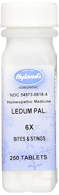 Hyland's Ledum Pal  6X Tablets, Natural Relief of Bites, Stings & Minor  Puncture Wounds, 250