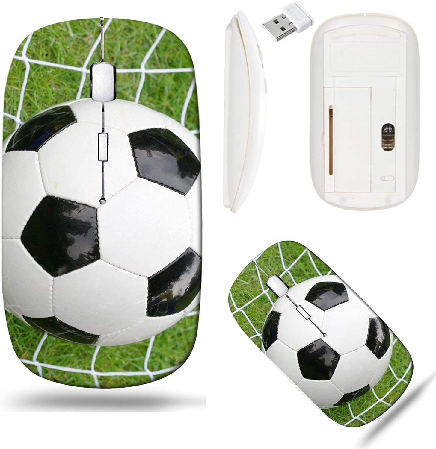 Liili Wireless Mouse White Base Travel 2.4G Wireless Mice with USB Receiver, Click with 1000 DPI for Notebook, pc, Laptop, Computer, mac Book Soccer Ball Photo 399771