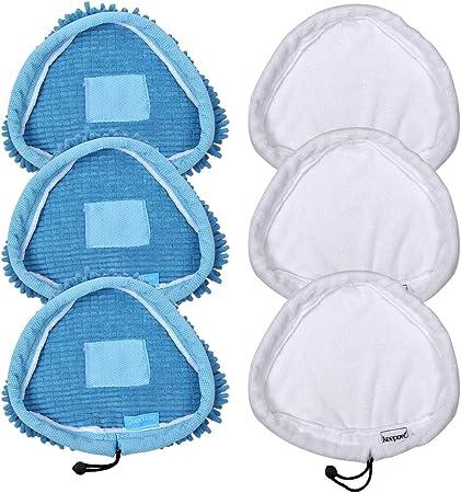 set di 8 universale in microfibra lavabili ricambio compatibile con pulitore a vapore H2O MOP X5 e Vax Panni per scopa a vapore