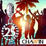 25 Number Bracelet Charms, 925 Sterling Silver