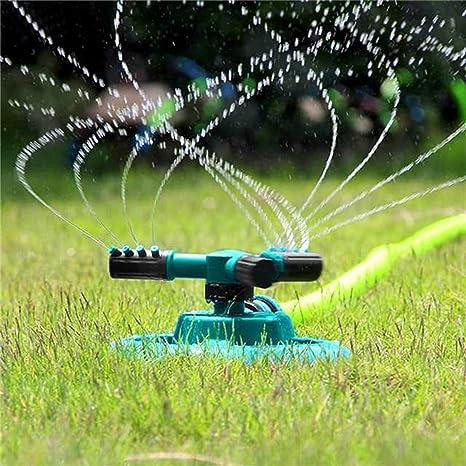 Aspersor automático para jardín, tres brazos, plástico ABS ...