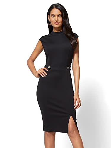 New York & Co. Women's Mock-Neck Sheath Dress - Ponte