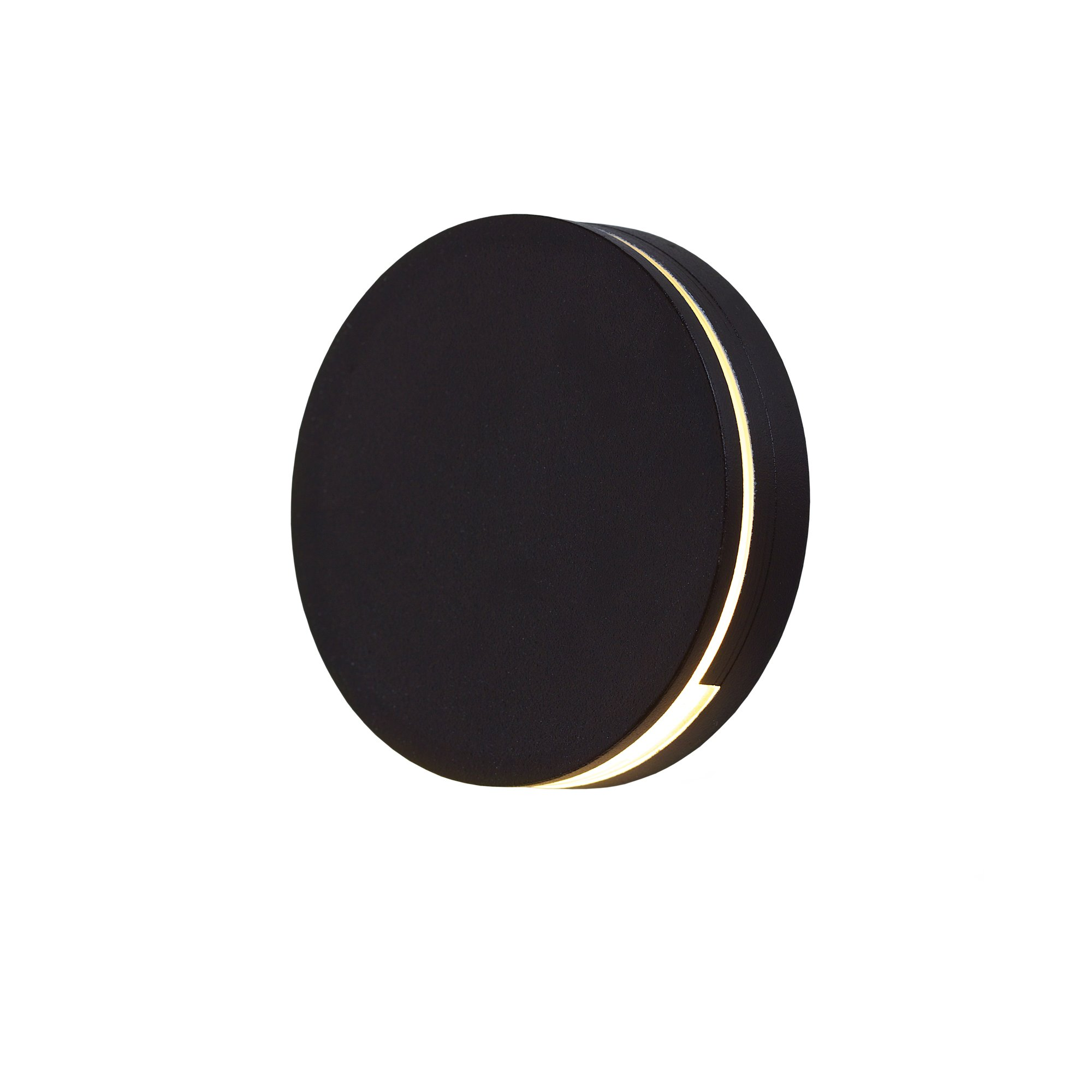 DALS Lighting LEDSTEP004D-BK 3'' Round Indoor/Outdoor LED Step Light 3'', Black