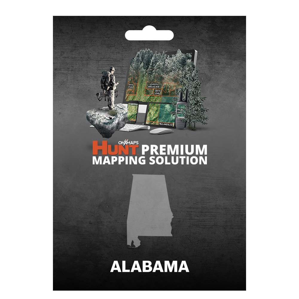 onXmaps HUNT Alabama: Digital Hunting Map For Garmin GPS + Premium Membership For Smartphone and Computer - Color Coded Land Ownership - 24k Topo - Hunting Specific Data by onXmaps (Image #1)