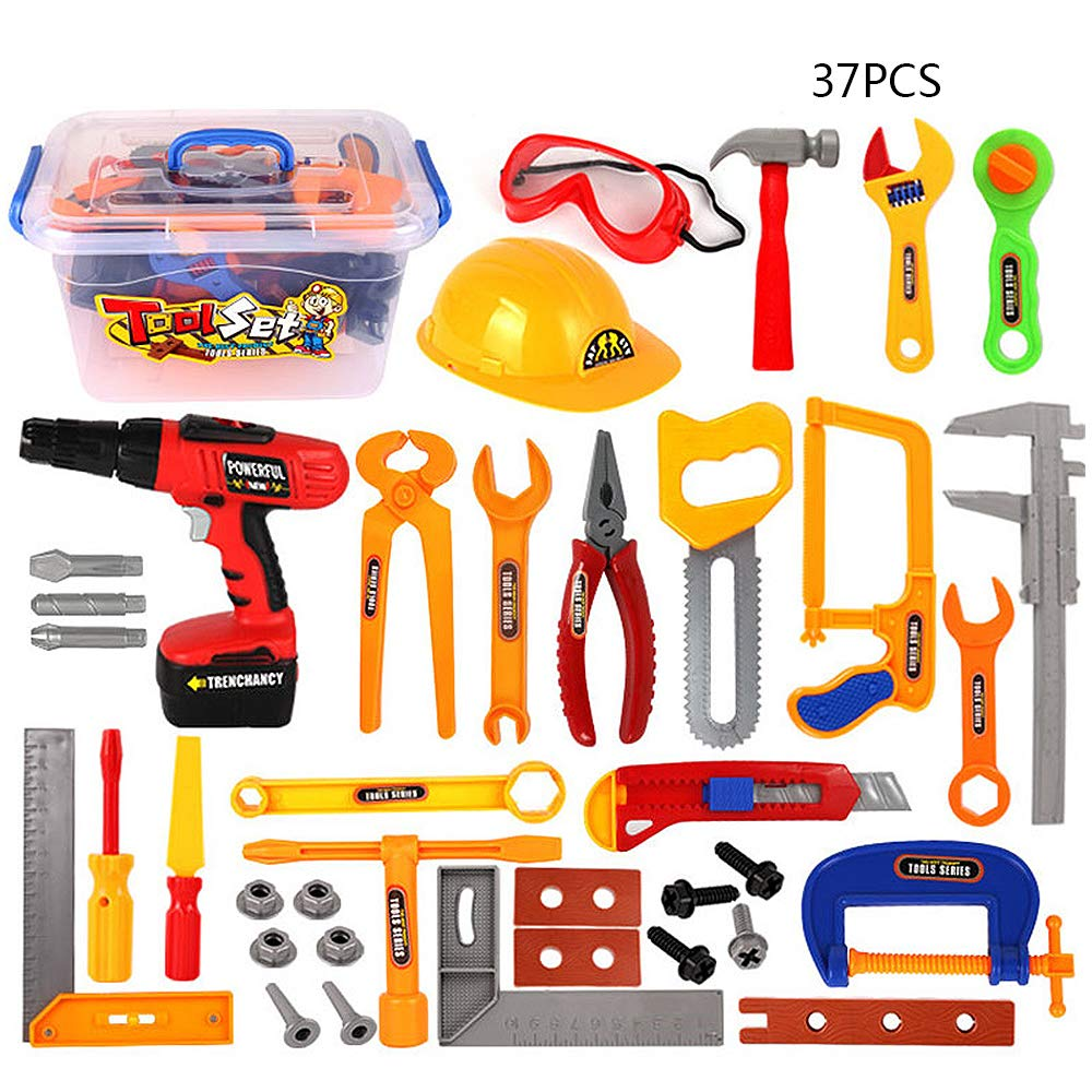 Amazon com: Pannow 37Pcs Durable Kids Tool Box Set
