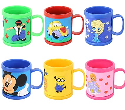 ed2f6c89f39 Jiada Cartoon Characters Mugs (Multicolour) - Set of 6