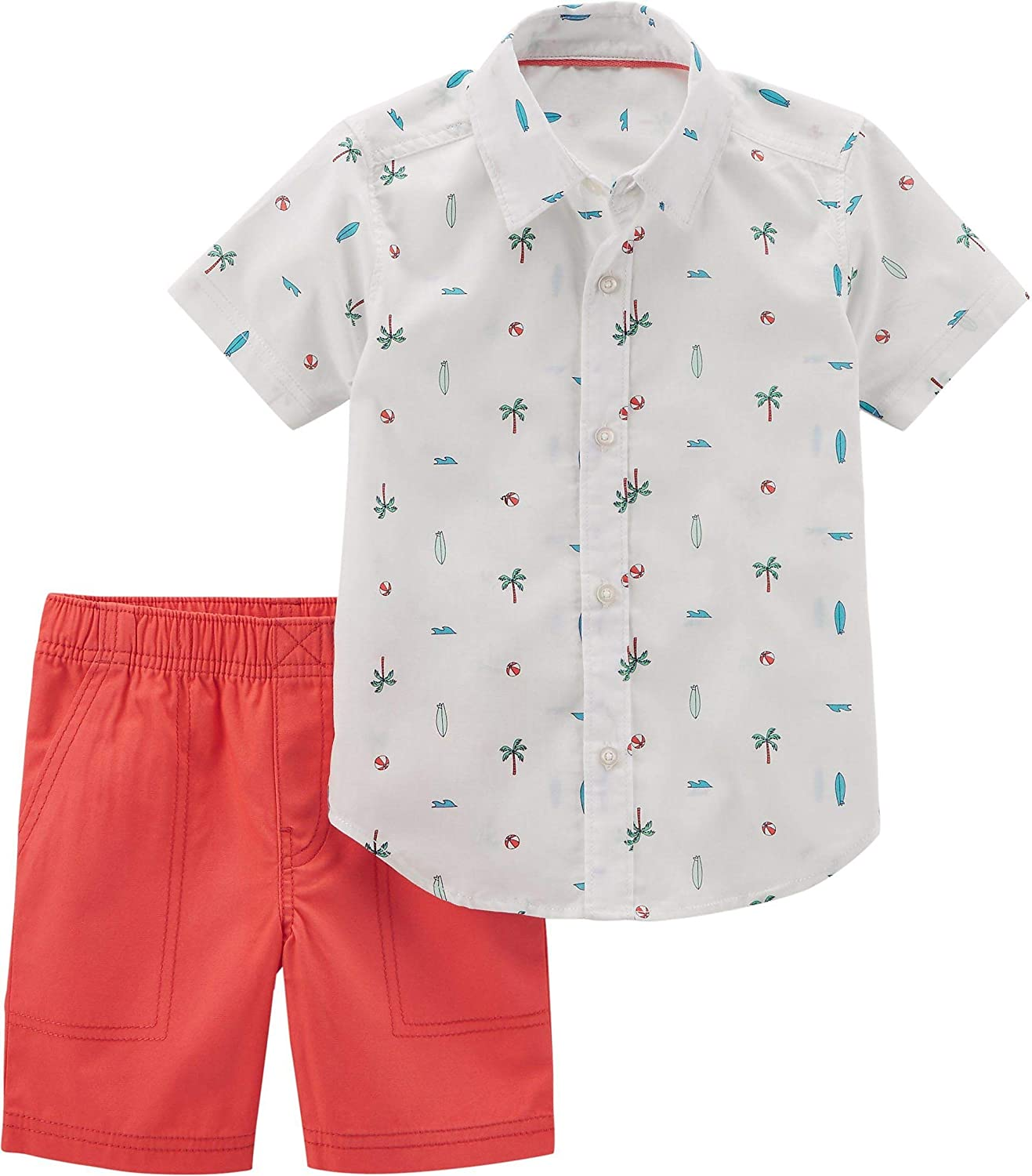 Best Friends Tee and Shorts Set Carters P000551660 Carters Boys 2T-5T 2-Pc