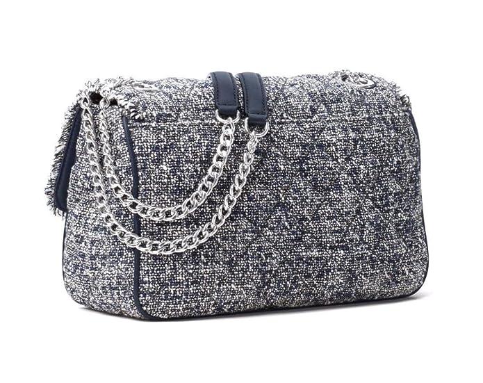 f77d12a65ba8 Amazon.com: Michael Kors Women's Sloan Boucle Tweed Quilted Shoulder Bag  Admial Navy Large: Shoes