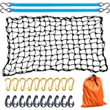 AxPower Bungee Cargo Net 4' x 6' Stretchable to 8' x 12' for Pickup Truck Bed Trailer Luggage Net Heavy Duty Tie-Down…