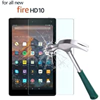 "M.G.R.J® Fire HD 10 Tempered Glass Screen Protector Compatible with for All Amazon Fire HD 10 (2017/2015 Gen's) (10.1"" inch)"