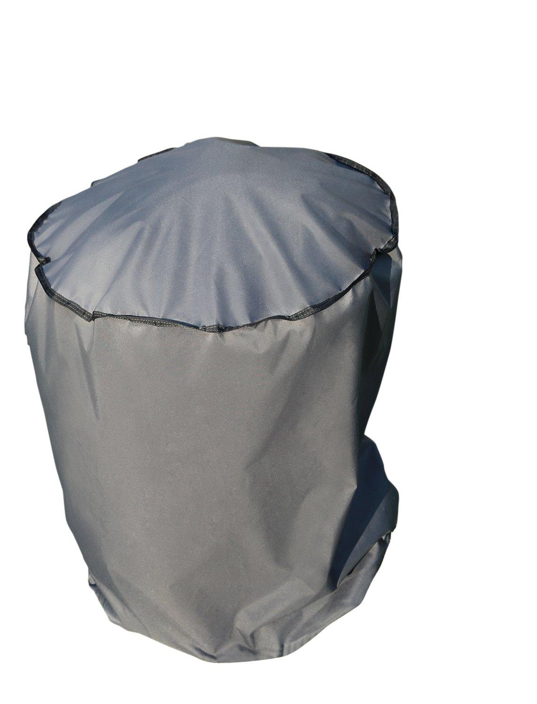 SORARA Funda/Cover/Protectora para Barbacoa y Parrilla | Ø 56 x 97 cm (L/A x A) | Gris | Resistente al Agua Poliéster (UV 50+) | para Exterior Muebles de ...