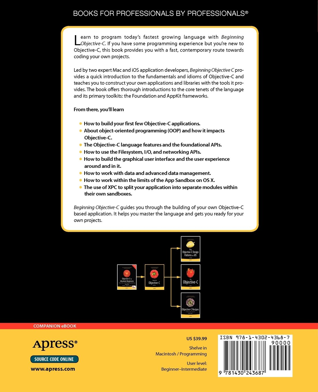 Beginning objective c for absolute beginners amazon james beginning objective c for absolute beginners amazon james dovey ashley alonzo hale furrow books baditri Image collections