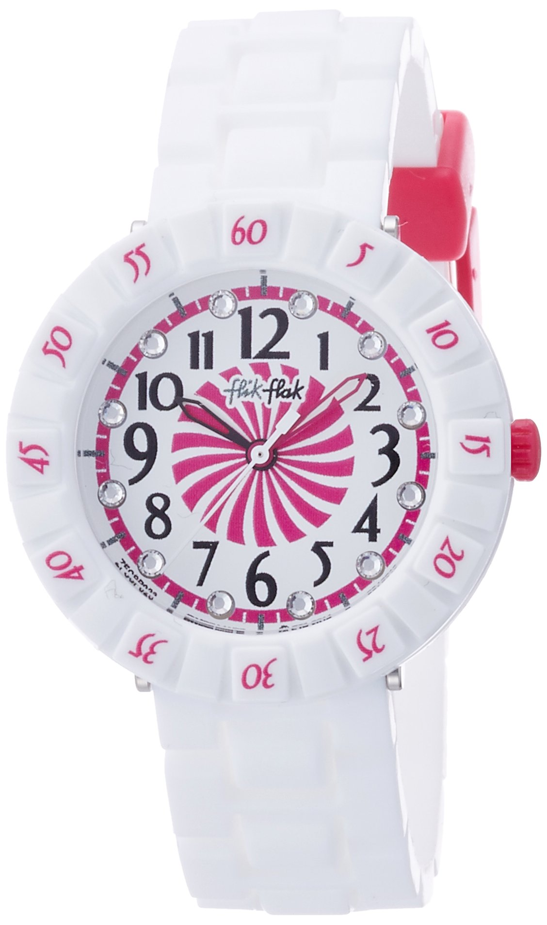 Flik Flak Biamella Two Tone Dial Silicone Strap Girls Watch ZFCSP023