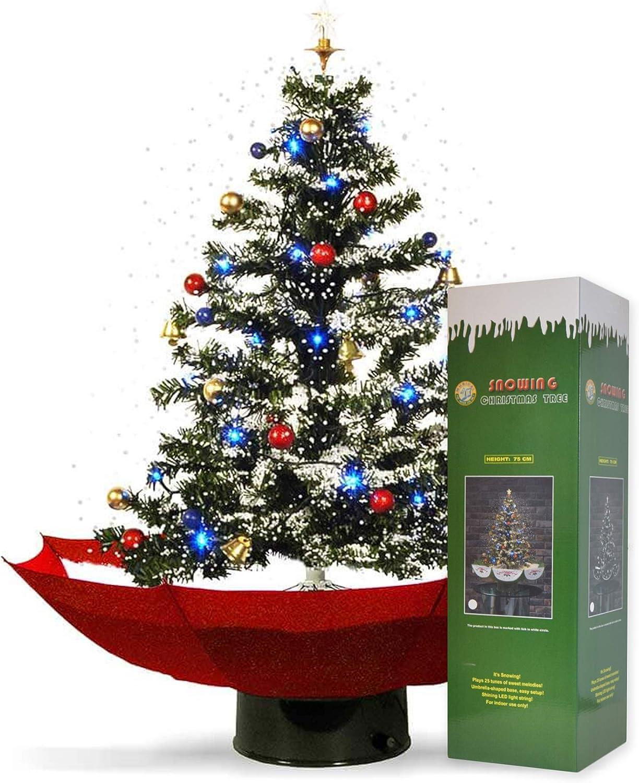 Albero Di Natale 75 Cm.Mikamax Nevicata Albero Di Natale Rosso 1 75 Cm 75 Cm Amazon It Casa E Cucina