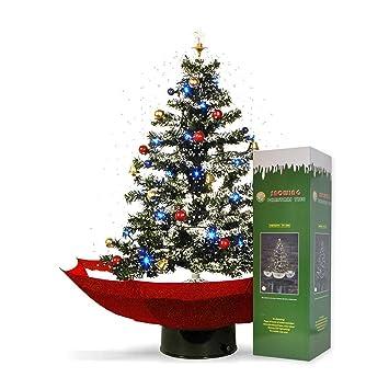 Schneiender Weihnachtsbaum.Mikamax Schneiender Weihnachtsbaum Led Rot Christbaum Mit Beleuchting Und Weihnachtsliedern Schneefall Weihnachtsdeko 75 Cm