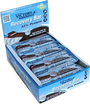 Victory Endurance Recovery Bar Sabor Yogur. Barrita recuperadora con 32% de proteína (12x50 g)