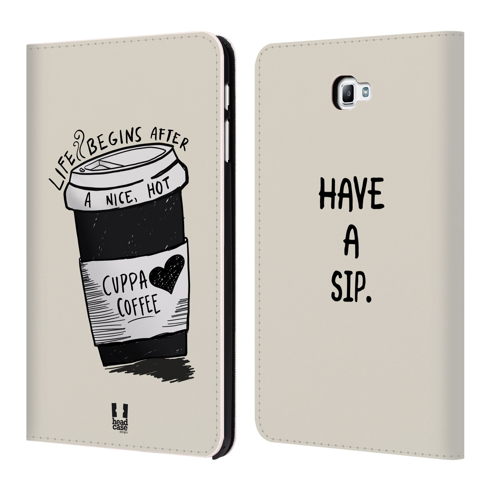 Head Case Designs Life Coffee Addicts Leather Book Wallet Case Cover For Samsung Galaxy Tab A 10.1 (2016)