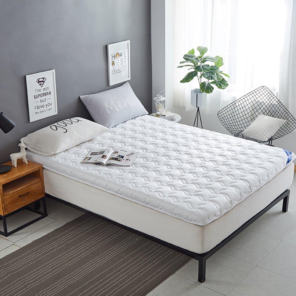 DULPLAY Thickn 通気性 綿 マットレス パッド,式 スリップ 寝室ベッド パッド,6 cm thickn ソフト 畳 ベッドのマット アンチ バクテリア プロテクター- B07FJXWX56