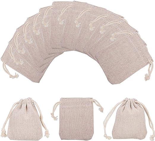 NBEADS 10 Bolsas pequeñas de algodón con cordón para joyería ...