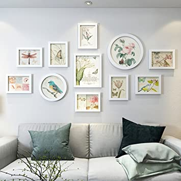 Wundervoll Farbe: U0026 Wandmontage Design Bilderrahmen Wand Set   11 Frames Aus Holz,  Kreative Sofa Hintergrund