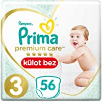 Prima Premium Care Külot Bebek Bezi, 3 Beden, 56 Adet, Midi İkiz Paket