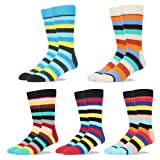 Clearance Sales-Mens Formal Dress Socks Striped Pattern Mid Calf- Toe Heel REINFORCED Gift Boxed