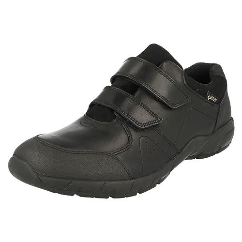 4e1a3e37b Clarks TraxFun GTX Bootleg Boys Waterproof School Shoes Junior 8 G Black