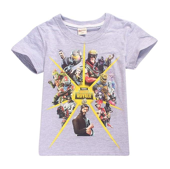 Verano Fortnite Chico Camisetas Moda Impresión Blusa T-Shirt Tops Casual Cuello Redondo Manga Corta tee Camisas: Amazon.es: Ropa y accesorios