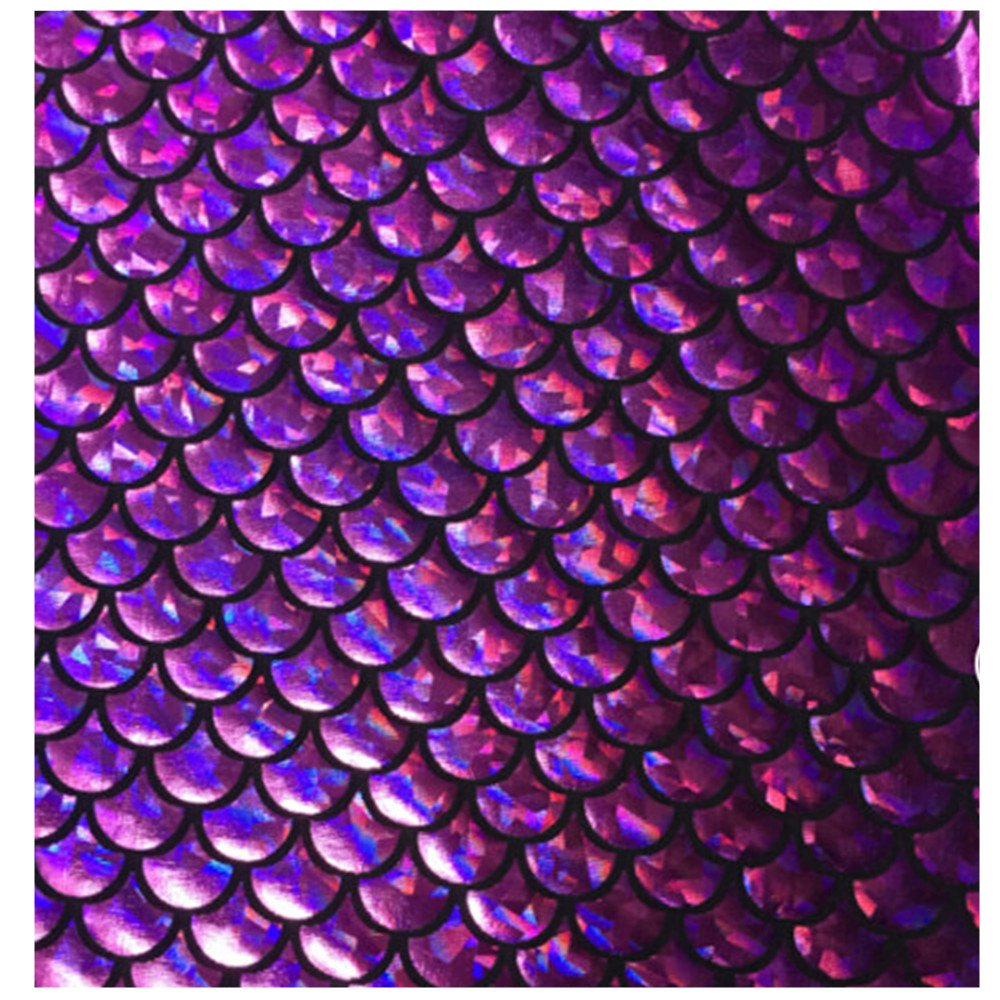 999876295 Amazon.com: Sparkle Purple Mermaid Scales Hologram Fish Scale Stretch  Spandex sold by the yard