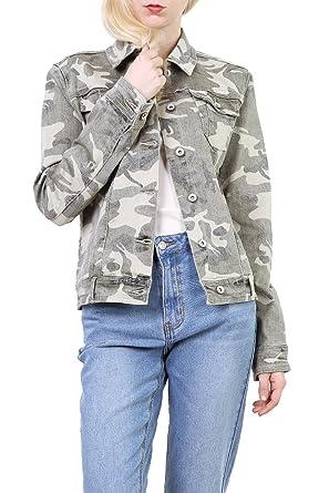Courte Denim Veste En Femme Militaire Blouson Jean Camouflage Toxik3 nc7qYwATq
