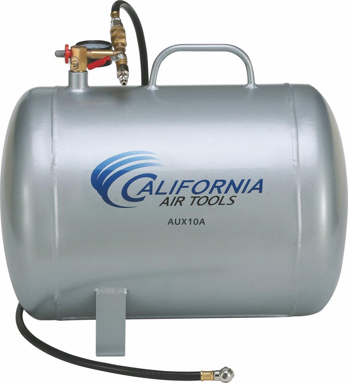 California Air Tools CAT-AUX10A 10 gallon Lightweight Portable Aluminum Air Tank, Silver