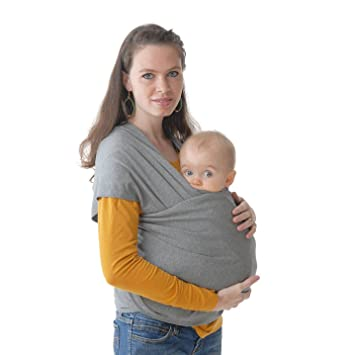 Amazon Com Wistic Baby Wrap Carrier All In 1 Stretchy Baby Wrap