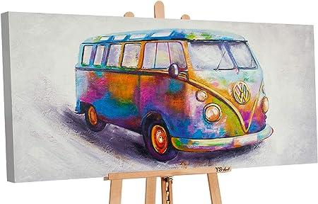 100/% Handgemalt Acryl Öl Gemälde handgemaltes Wand Bild Kunst Leinwand Nostalgie