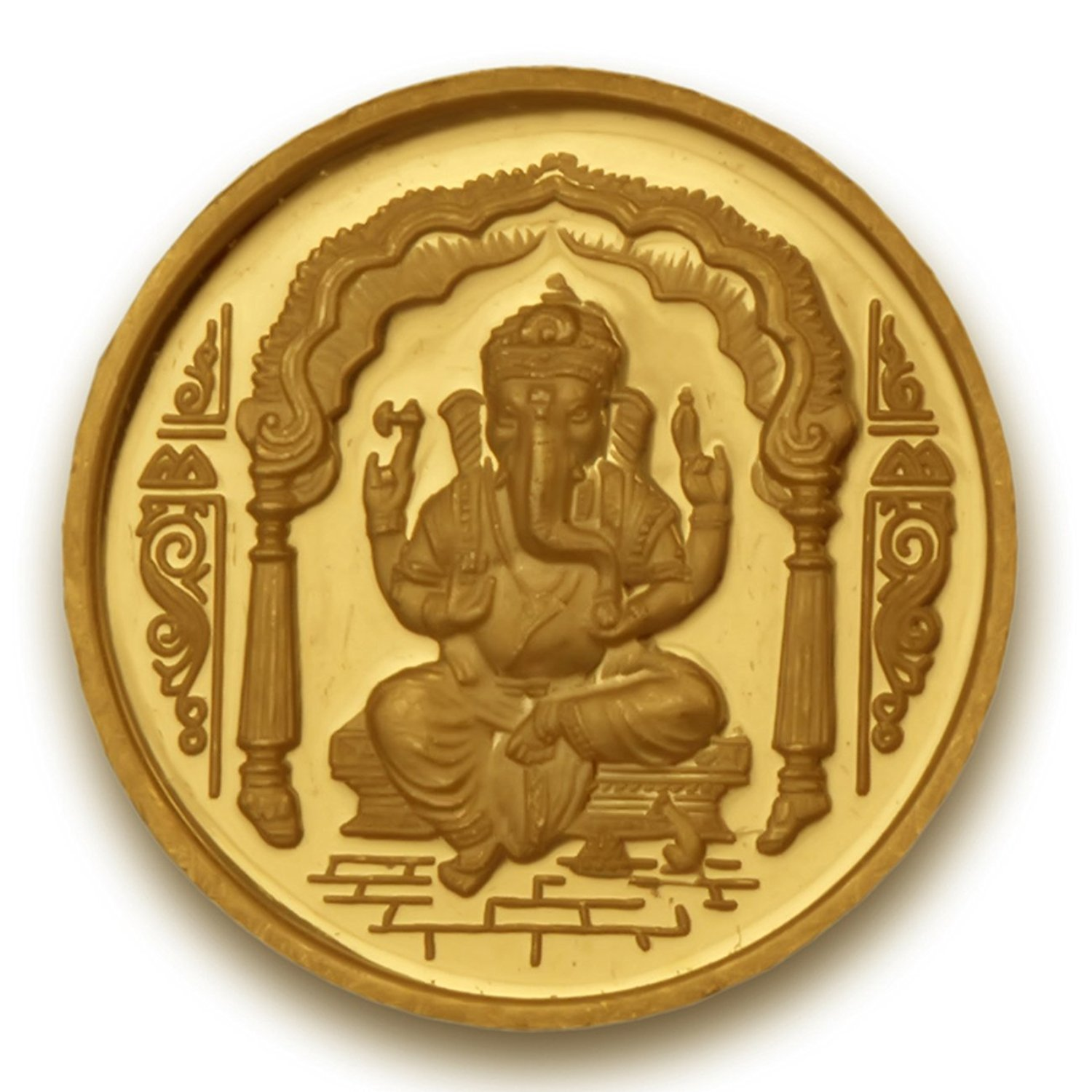 Navkaar Creation Ganesh Coin in Pure 24k Yellow Gold 10 Grams Certified