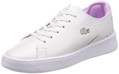 4dd06b847 Lacoste Womens White Light Purple Eyyla 118 1 Trainers  Amazon.co.uk ...