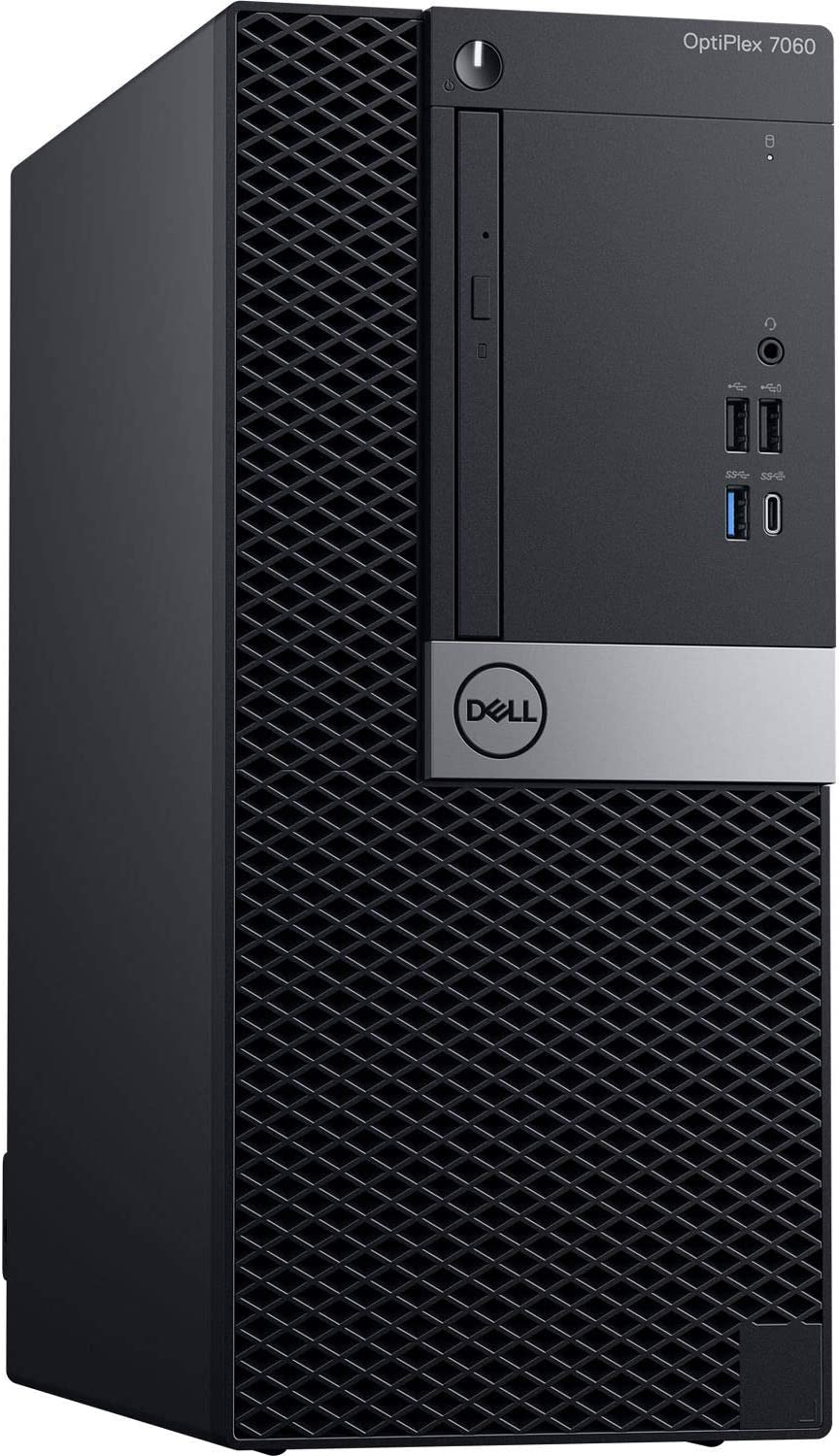 Dell Optiplex 7060 Mini Tower | Intel Quad Core i3-8300 3.7GHz | 4GB DDR4 + 16GB Optane Memory | 500GB HDD | DVD | Windows 10 Pro (Renewed)