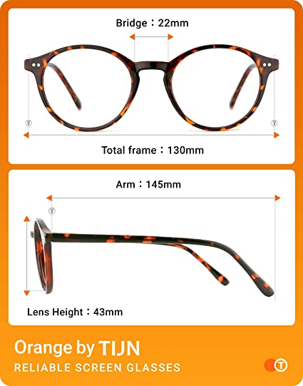TIJN Brille mit Blaulichtfilter Blockieren Blaue Licht Ohne Sehst/ärke Brillen von PC TV und Handy Brillenfassungen f/ür Damen Herren