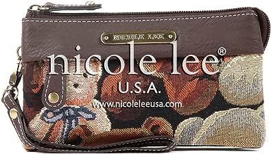 Nicole Lee REINY BEAR TAPESTRY SOFT WALLET