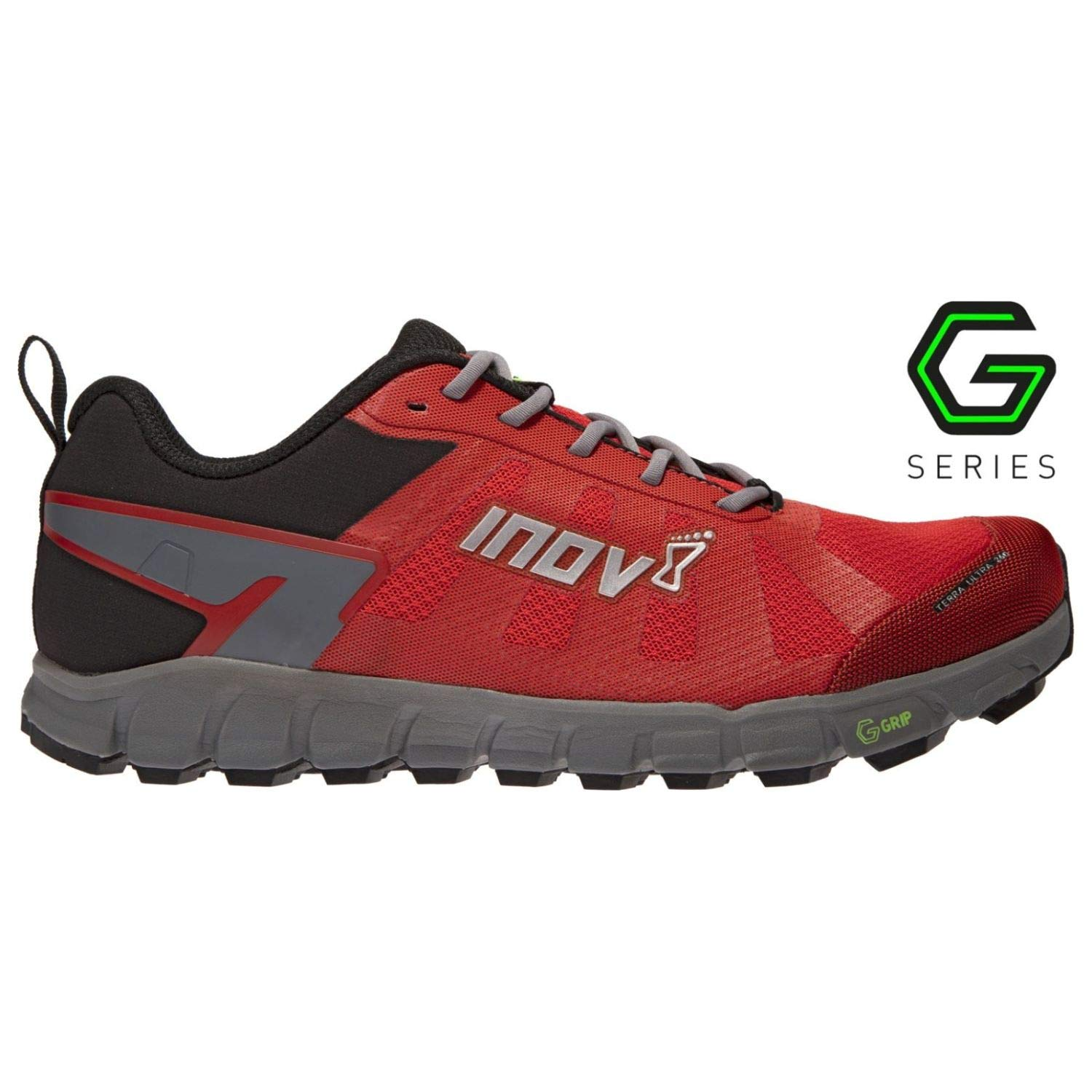 Inov-8 Womens Terraultra G 260 | Ultra Trail Running Shoe | Zero Drop | Perfect for Running Long Distances on Hard Trails and Paths | RED/Grey 10 W US by Inov-8